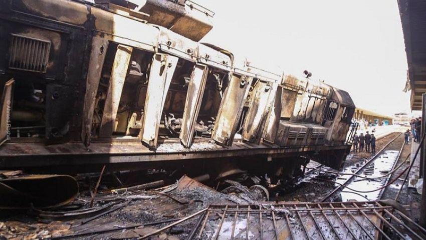 بالصور  رئيس السكة الحديد يتبرأ.. الحادث نتيجة خطأ سائق قطار رمسيس