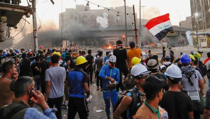 احتجاجات العراق تتسع.. واتهامات للحكومة باستخدام «قنابل مرعبة»