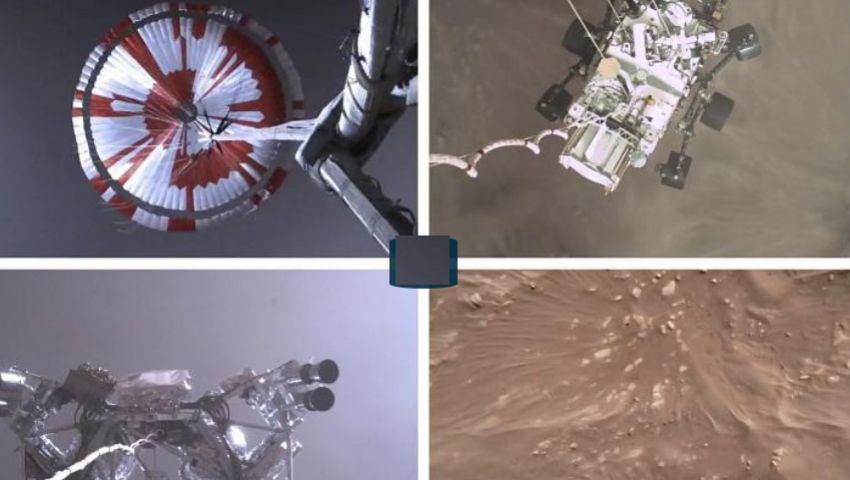 شاهد  أول مقطع لهبوط المسبار «برسفيرنس» على المريخ