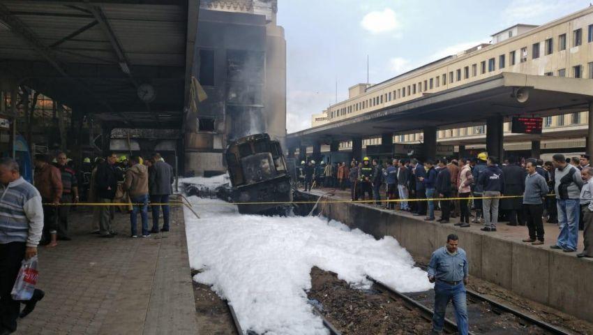 فيديو  فزع ورعب وعمل بطولي.. مشاهد لا تنسى بحادث حريق محطة مصر