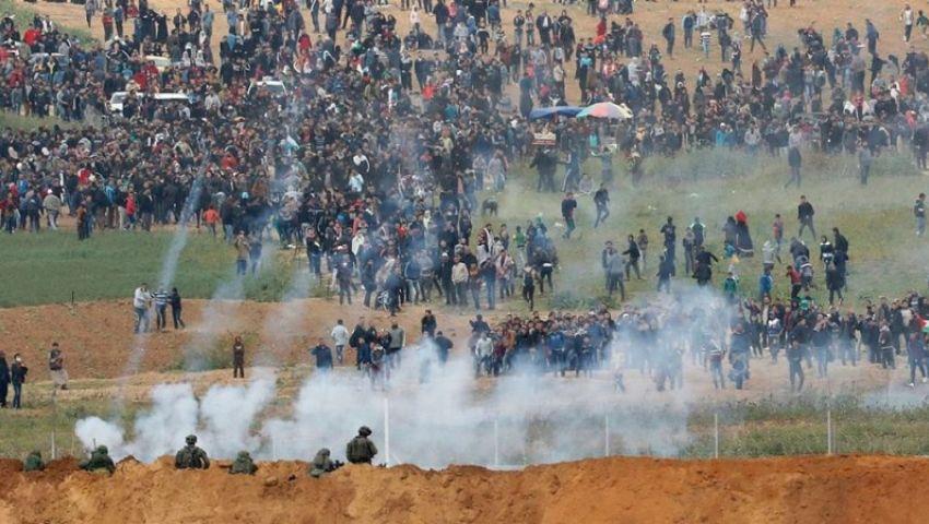 الاحتلال يقمع مسيرات العودة شرقي غزة ويصيب فلسلطينيين