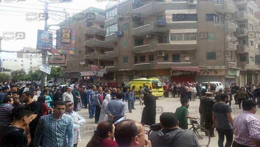 نقل 11 حالة من مصابي انفجار كنيسة مارجرجس لمعهد ناصر
