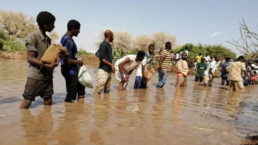 فيديو| لم يحدث منذ عام 1912.. شاهد حصيلة خسائر فيضان النيل بالسودان