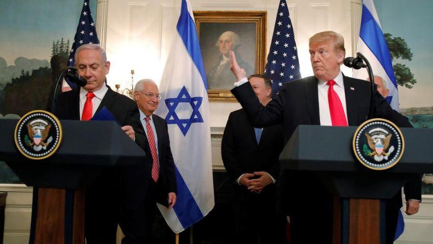 فيديو| بحضور نتنياهو.. ترامب يعترف بضم الجولان لـ«إسرائيل» رسميًا