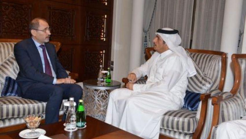 وزيرا خارجية قطر والأردن يبحثان تطورات الأزمة السورية