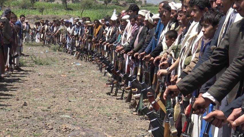 فيديو  التحالف يدعم قبائل حجور في حجة أمام الحوثيين