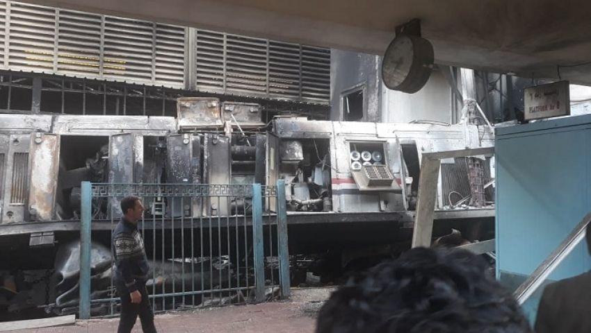 فيديو| انفجار قطار محطة مصر.. رصيف نمرة 6 يا مودع الحياة