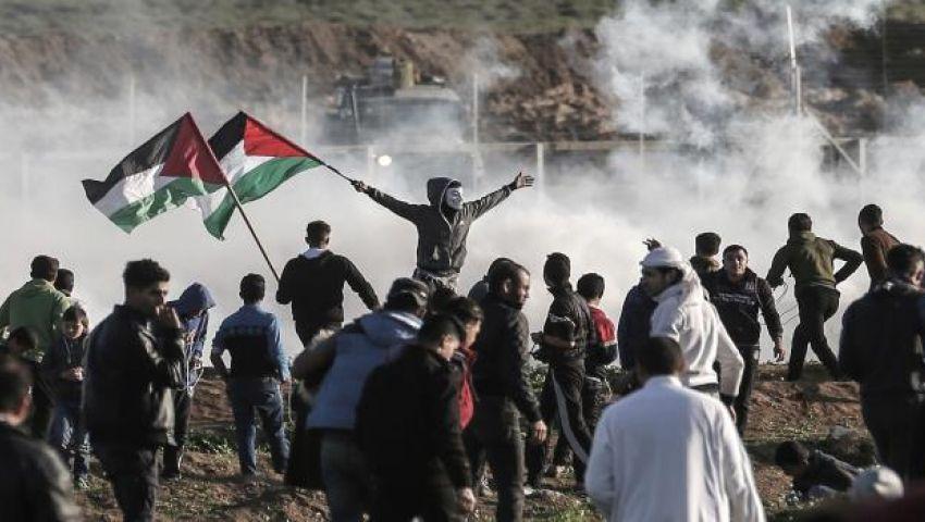 الاحتلال يقمع مسيرات العودة شرقي غزة.. ويصيب 46 فلسطينيًّا