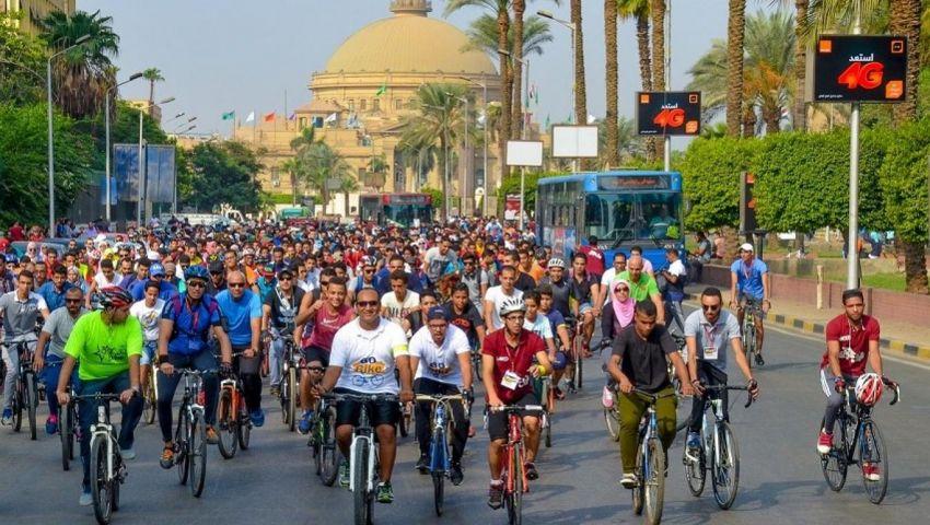 فيديو| دراجة لكل طالب.. «العجلة» تنطلق من السويس وتصل القاهرة وأسوان قريبًا