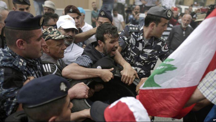 فيديو| بسبب موازنة 2019.. التظاهرات تضرب لبنان