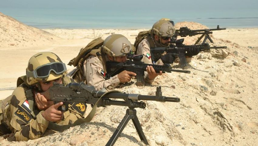 بالصور| استمرار فعاليات التدريب المصري الإماراتي المشترك زايد 2
