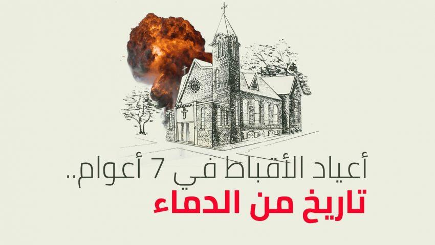 انفوجراف| أقباط  مصر في 7 أعوام .. أعياد تحولت إلى مآتم