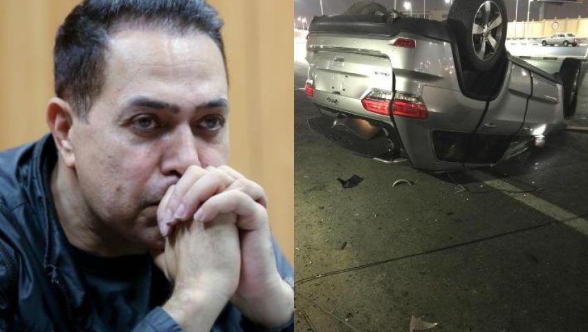 فيديو| حادث سير مروع لـ حكيم ونقله إلى المستشفى