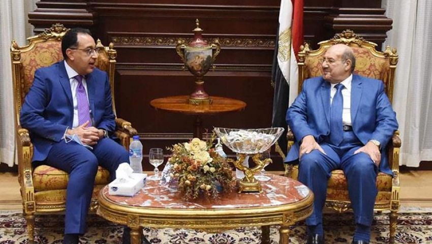 بالصور| عبد العال ومدبولي يهنئان عبد الرازق برئاسة مجلس الشيوخ