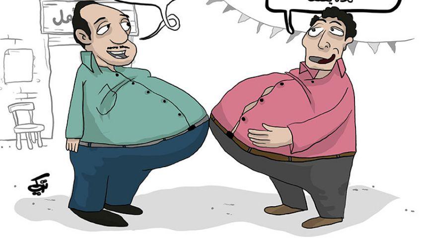 كاريكاتير : مسافة الأمان في الحظر