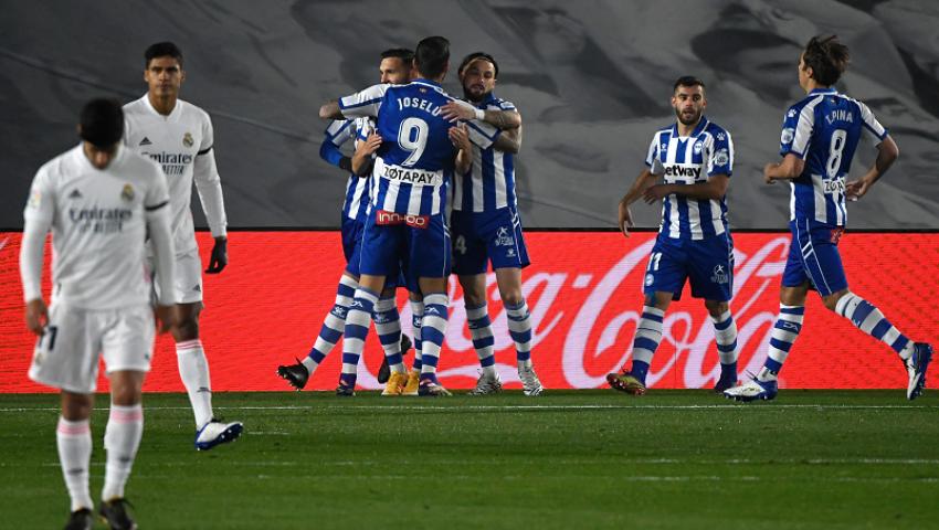 فيديو  ريال مدريد يسقط على أرضه أمام ديبورتيفو ألافيس