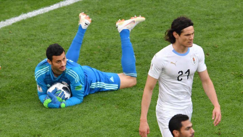 «الشناوي» رجل مباراة مصر وأوروجواي