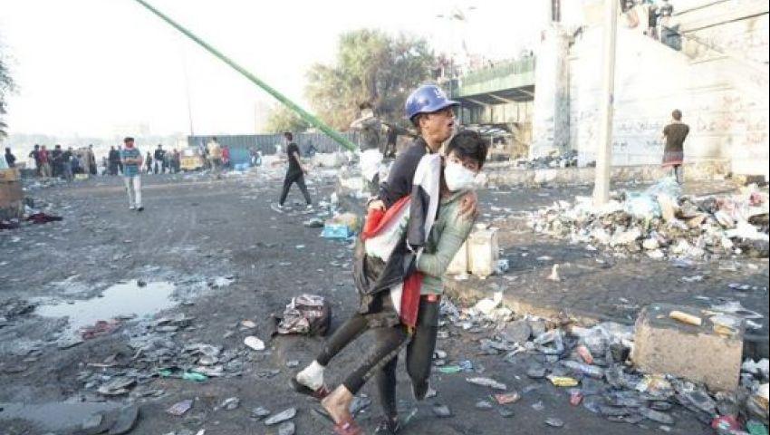 العراق| «أمنستي»: هجمات بغداد تأتي ضمن حملة التخويف المستمرة ضد المتظاهرين