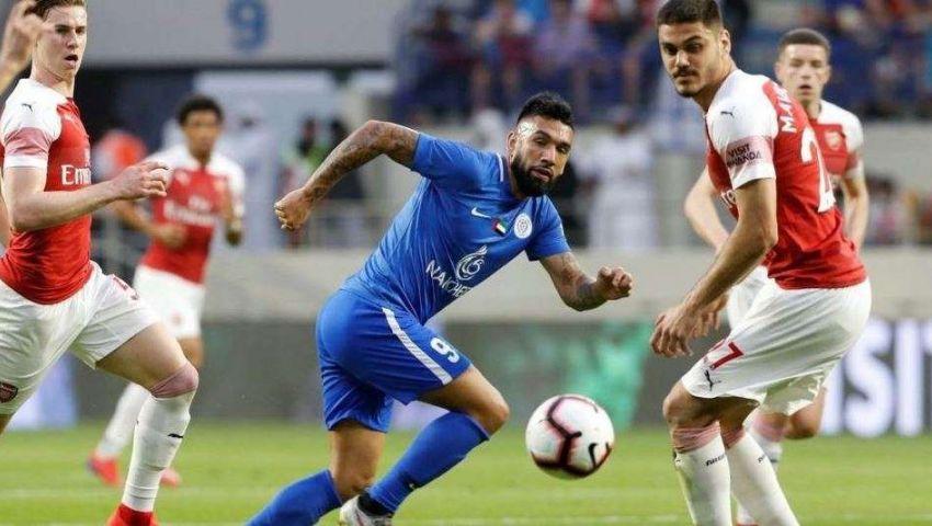 فيديو| مباراة مثيرة.. آرسنال يفوز على النصر في افتتاح ملعبه الجديد