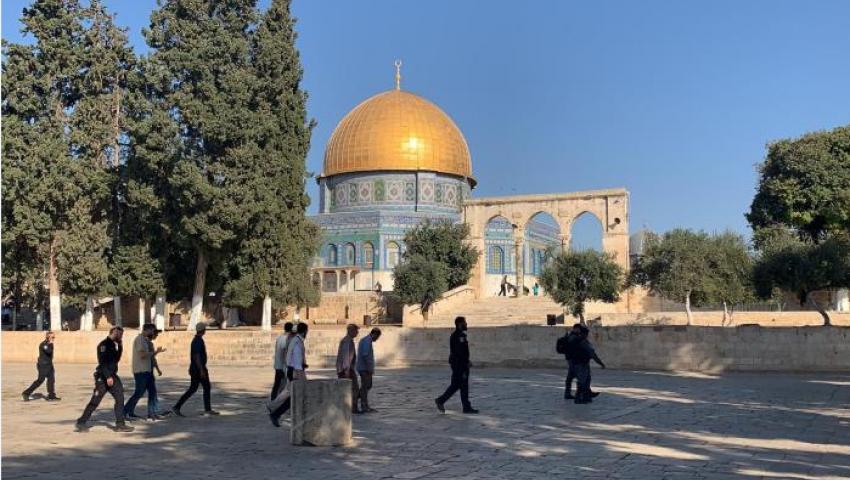 يستغلون أعيادهم لتهويد القدس.. يهود يدنسون الأقصى في ثاني أيام «العرش»