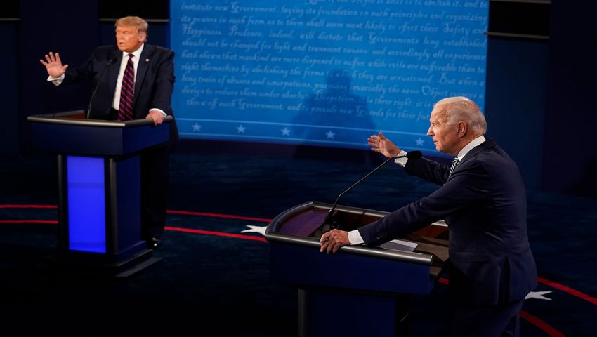 فيديو| المناظرة الأخيرة.. تبادل الاتهامات والفساد بين ترامب وبايدن
