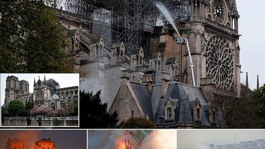 بالصور| هكذا تبدو كاتدرائية نوتردام بعد إخماد الحريق
