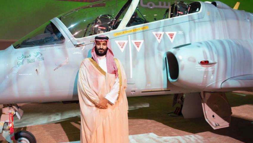 صور| تدشين أول طائرة «هوك» سعودية محلية الصنع