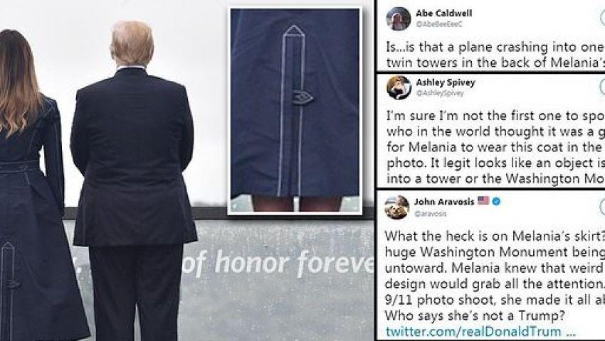 بالصور| في ذكرى 11 سبتمبر.. سخرية واسعة من ثوب ميلانيا ترامب