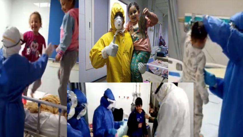 فيديو وصور| حجر كورونا مع الأطفال.. أغانٍ وأعياد ميلاد وفانوس رمضان