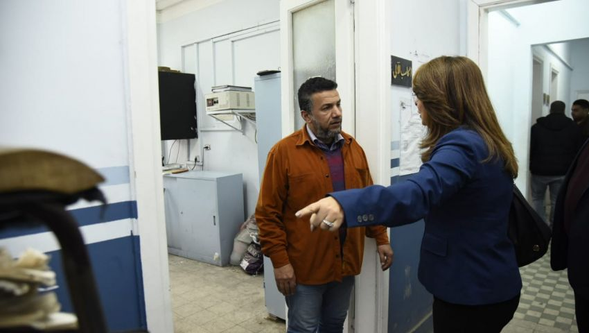 زيارات مفاجئة لوزيرة التضامن على مكاتب التأمينات بالسكندرية