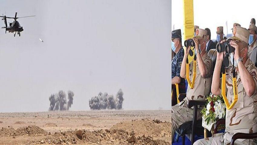 «حسم 2020».. مصر تجري مناورة عسكرية في الاتجاه الاستراتيجي الغربي