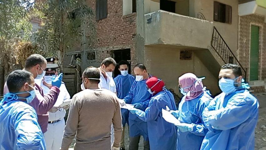 فيديو| عزل 800 منزل بقرية كفر جعفر في الغربية بسبب كورونا