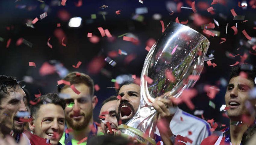بعد فوزه على الريال.. أتلتيكو مدريد يتوج بـ «السوبر الأوروبي»