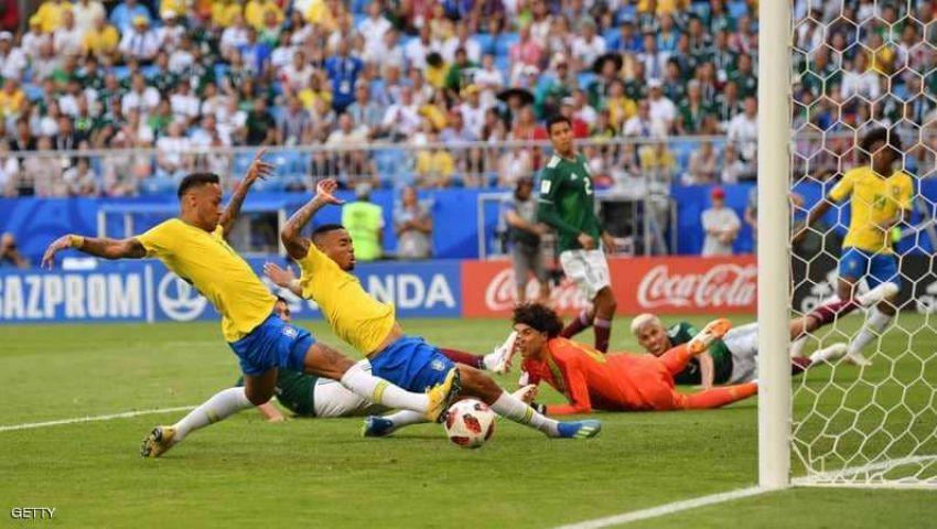 فيديو| البرازيل تعبر المكسيك وتتأهل إلى ربع نهائي المونديال