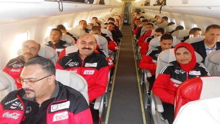 بالصور| أبطال الأولمبياد الخاص يصلون مطار القاهرة.. والأهالي في استقبالهم