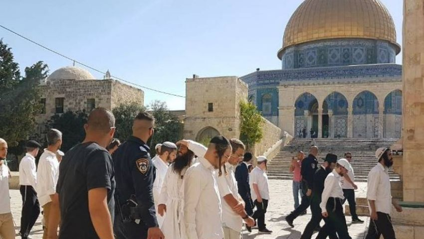 بالصور  الاحتلال يدنس الأقصى في أيام العيد.. هكذا انتقم الصهاينة من القدس