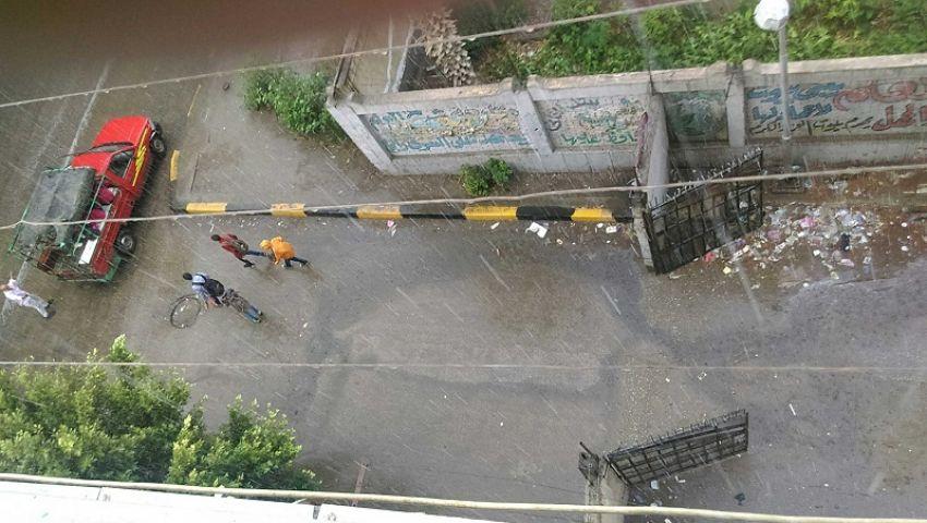 صور  أمطار غزيرة تضربمحافظات القاهرة الكبرى من جديد