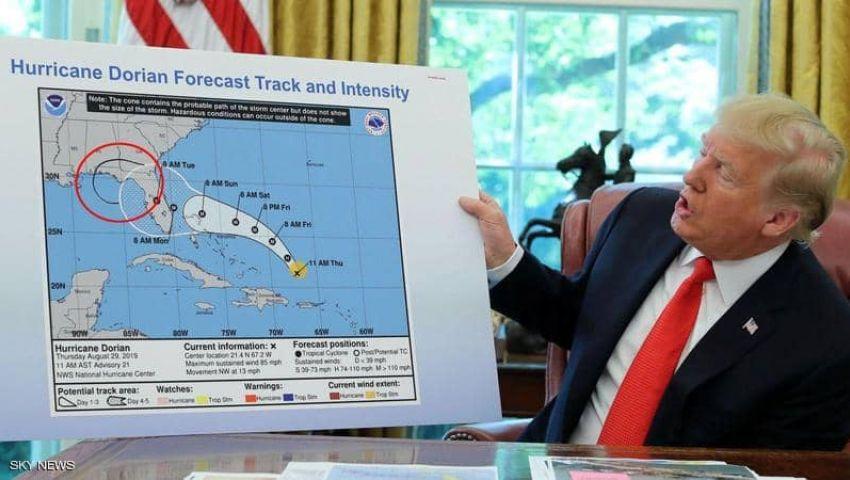 في فضيحة جديدة.. ترامب يداري «خطيئة الإعصار» بخريطة مزيفة