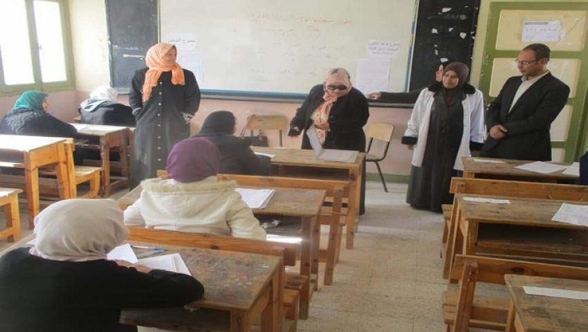 تواصل امتحانات أولى ثانوي والإعدادية بشمال سيناء