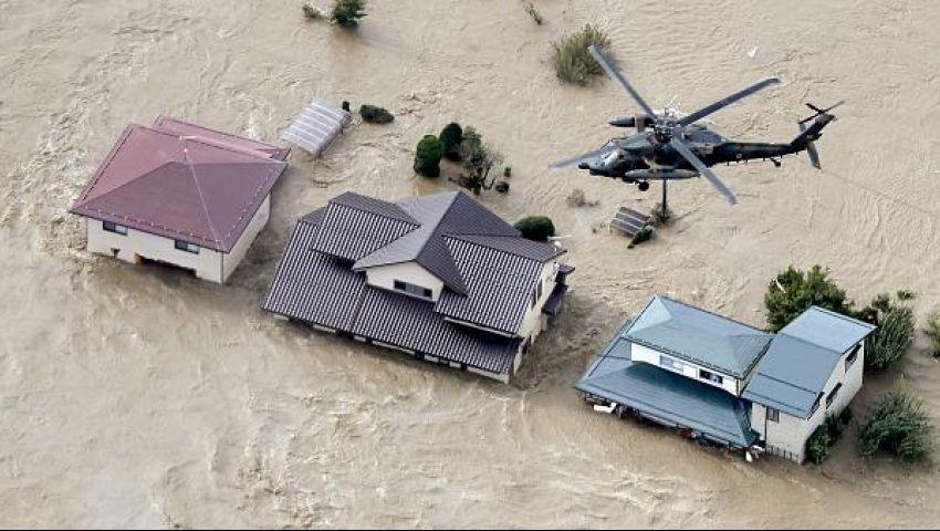 مصرع وفقدان 22 شخصًا جراء إعصار «هاغيبيس» في اليابان