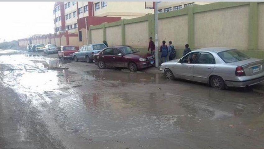 بالصور| مياه الأمطار تحاصر المدارس.. والمديريات التعليمية ترفع حالة الاستعداد القصوى