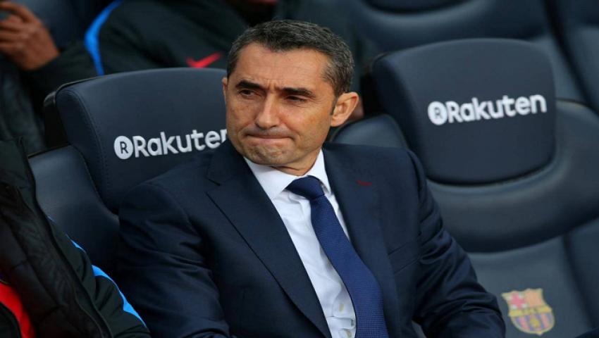 برشلونة يعلن البدء في إجراءات إقالة فالفيردي من تدريب الفريق