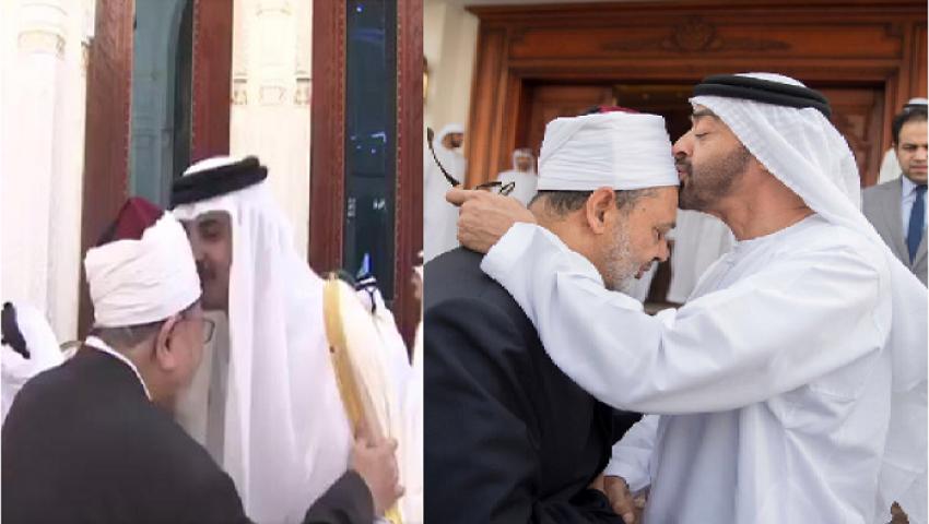 قبلة ابن زايد على رأس شيخ الأزهر .. دعاية أم مكايدة سياسية؟