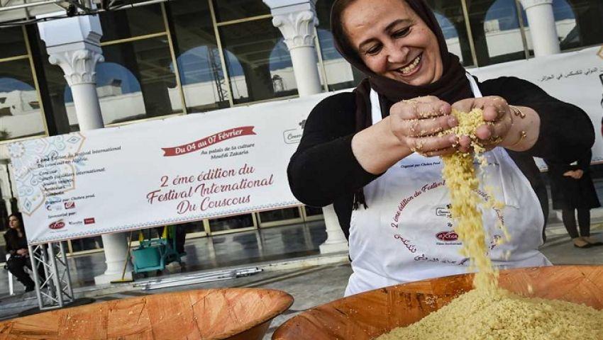 بالصور| في مهرجان دولي بالجزائر.. أكلات الكسكسي كما لم ترها من قبل