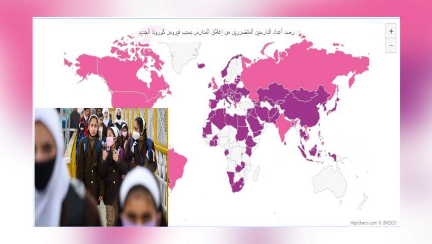 خريطة تفاعلية| تعرف على أعداد الطلاب المتقاعدين بأمر «كورونا» حول العالم