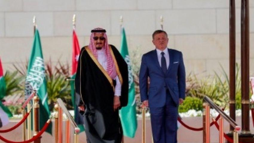 بالصور  العاهل السعودي يصل الأردن