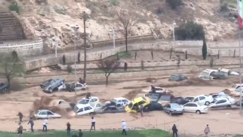 فيديو| إيران.. ارتفاع ضحايا السيول 19 قتيلا و105 جرحى