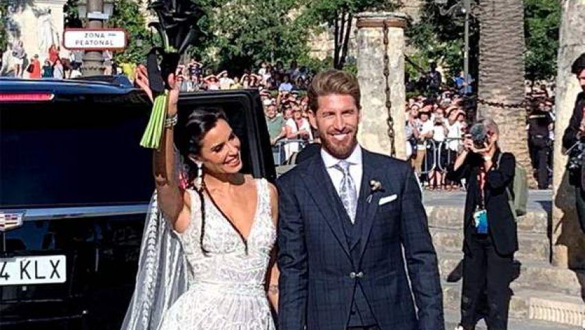 فيديو| بحضور نجوم كرة القدم.. حفل زفاف استثنائي لراموس وروبيو