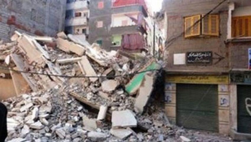 انهيار عقار من 3 طوابق ببولاق أبو العلا