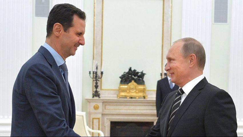 هاتفيًّا.. بوتين يُطلع الأسد على نتائج مباحثاته مع أردوغان